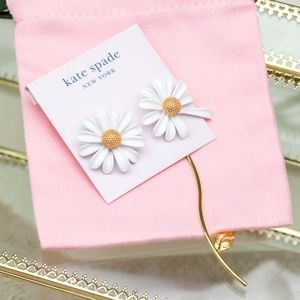 Kate Spade Gold tone Into The Bloom Earrings